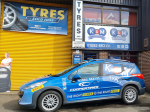 K and M Tyres Crowborough About Us